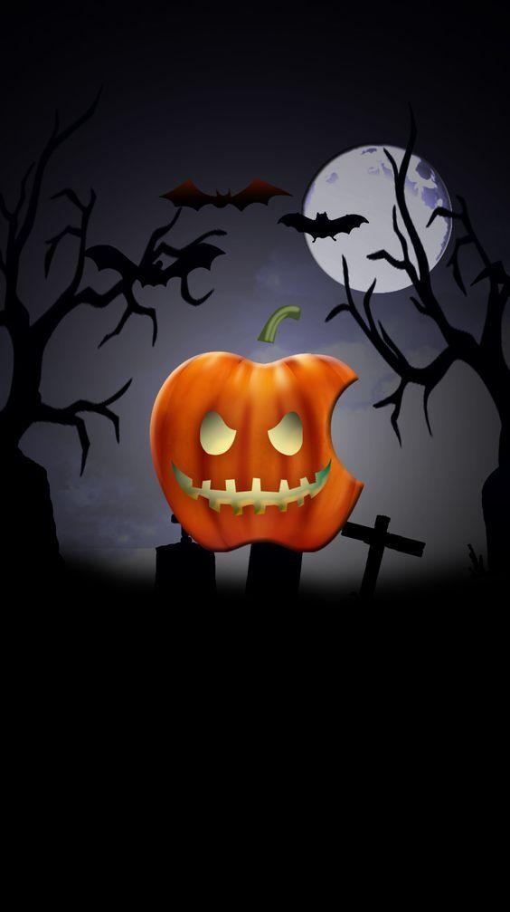 Hd Wallpaper 45 Apple Logo Wallpaper Iphone Android Wallpaper Halloween Wallpaper