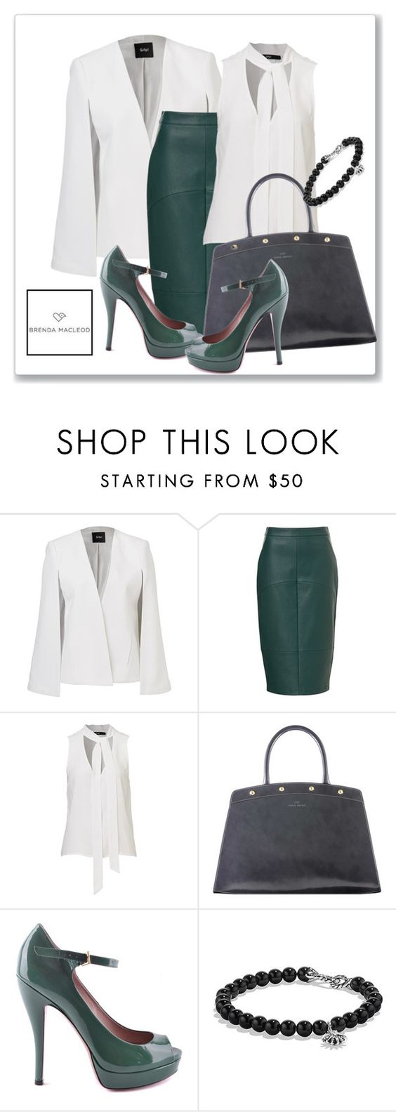 """career woman"" by brendamacleod ❤ liked on Polyvore featuring Mode, Gucci, David Yurman, women's clothing, women, female, woman, misses und juniors"
