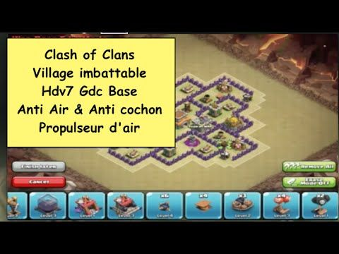 Clash of Clans : Village imbattable Hdv7 Gdc Base, Anti Air & Anti cocho...