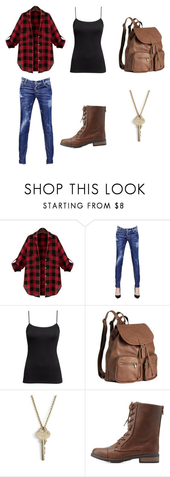"""""""Another Casual Day"""" by donna-bender ❤ liked on Polyvore featuring Dsquared2, H&M, The Giving Keys and Charlotte Russe"""