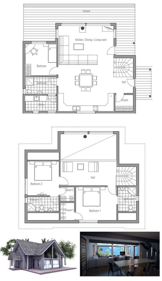 Small house plans small houses and vaulted ceilings on for Small affordable house plans