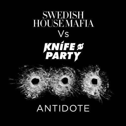 Swedish House Mafia, Knife Party – Antidote (single cover art)