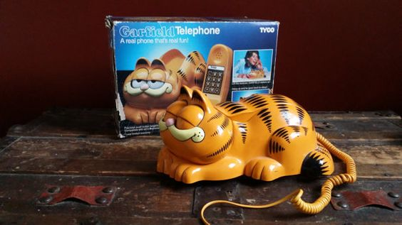 Vintage 1978 TYCO Garfield Push Button Telephone by UrsMineNours