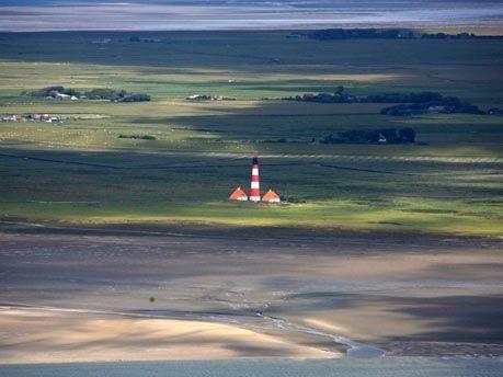 Lighthouse at Westerheversand, Germany North Sea