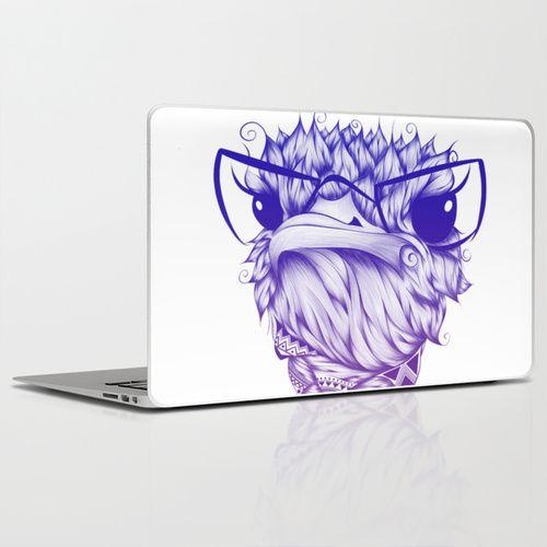 Ostrich Colors  Laptop & iPad Skin #art #society6 #loujah #laptopskins #stickers