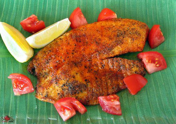 Cette méthode de cuisson est couramment employée en Louisiane avec de la volaille, viande ou poisson. La couche d'épices commence à brunir sur les bords en donnant une belle couleur mordorée au mêts.
