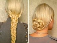Hair tutorial for long hair Easy heatless hairstyles with braids Everyday casual work updo