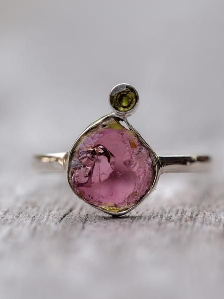 Miyu // Tourmaline Ring  Turn to your inner senses. Calm your mind. Feel the magic. Let peace and happiness blossom and bloom. Let this jewel take you to another world and keep a little part of that magical world with you for the entire day.
