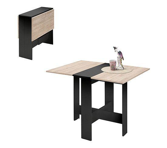 Table Pliante Plya Imitation Chene Et Noir Table But En 2020 Table Pliante Table De Cuisine Pliante Table Pliable