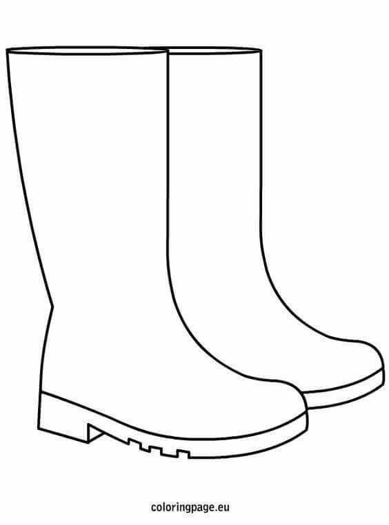 Welly Boot Colouring Page Design Your Own Wellies