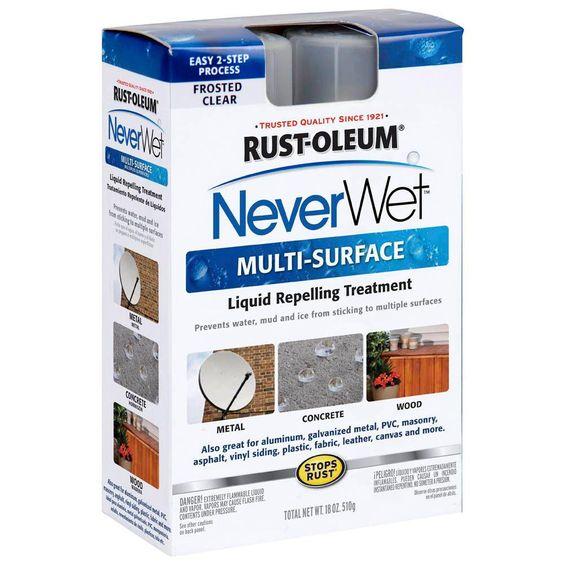 Rust Oleum 274232 Never Wet Multi Purpose Kit In 2019 Waterproof Spray Paint Spray Painting Vinyl Siding