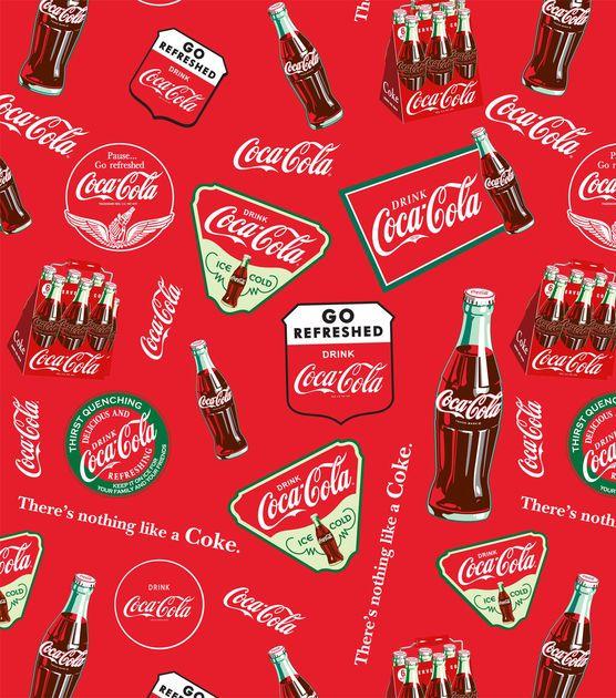 Coca Cola Allover Cotton Fabric