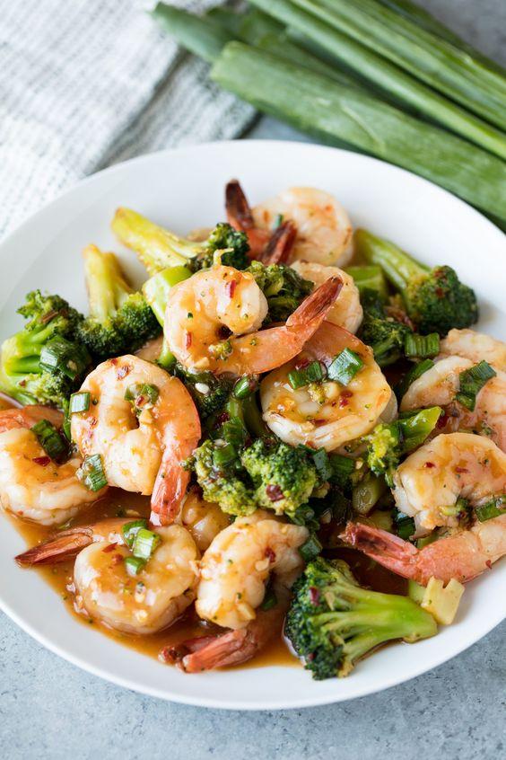 Szechuan Shrimp and Broccoli Stir-Fry