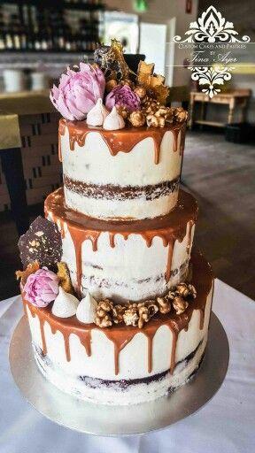 Cake Design Caramel : Wedding cake - Salted Caramel mud cake with salted caramel ...