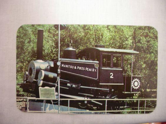 VINTAGE PHOTO POSTCARD OLD COG STEAM ENGINE NO.2 MANITOU SPRINGS COLORADO UNUSED