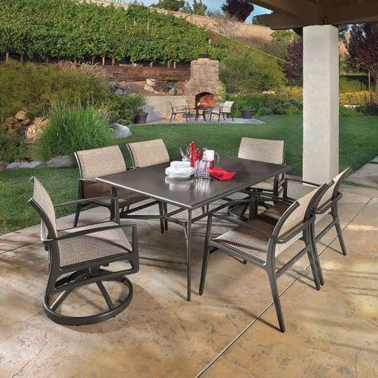 Phoenix Rectangle Dining In Patio Furniture Galaxy Home Recreation L Okc Tulsa Broken Arrow Galaxy Homes Outdoor Furniture Sets Patio