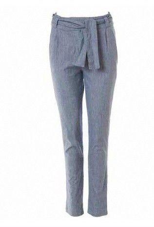 Comprar Pantalon largo gris denim lazo kimono de marca Orfeo Paris