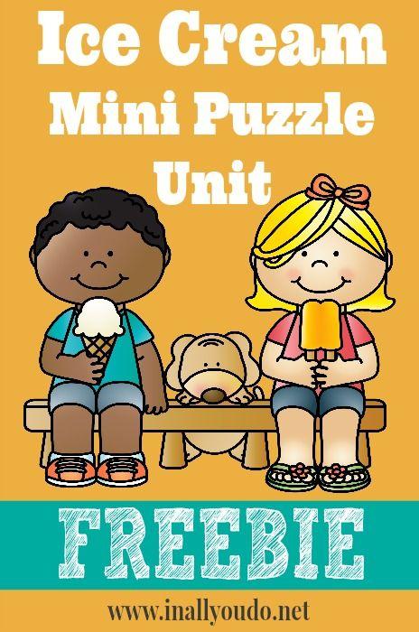 Ice Cream Mini Puzzle Unit FREEBIE