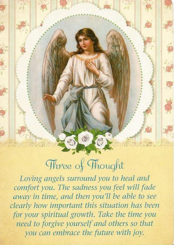 3 of Thought, Guardian Angel Tarot, Doreen Virtue
