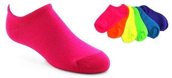 Girls Jacques Morét® Neon No-Show Socks