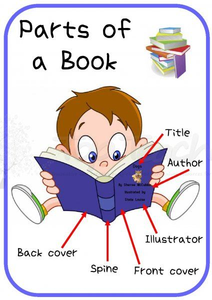 Teaching Parts Of A Book To First Grade - parts of a book ...