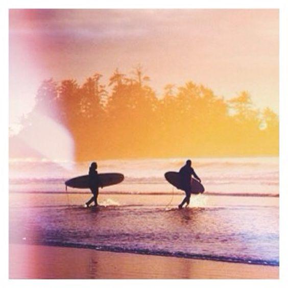 : Adrian Dorst // Chesterman Beach at sunset. // #YourTofino