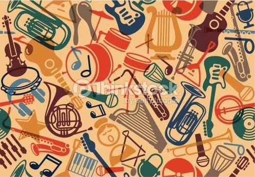 Arte vetorial : Seamless musical background