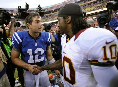 """Luck, Griffin impress; Redskins top Colts"" USA Today (August 25, 2012):"