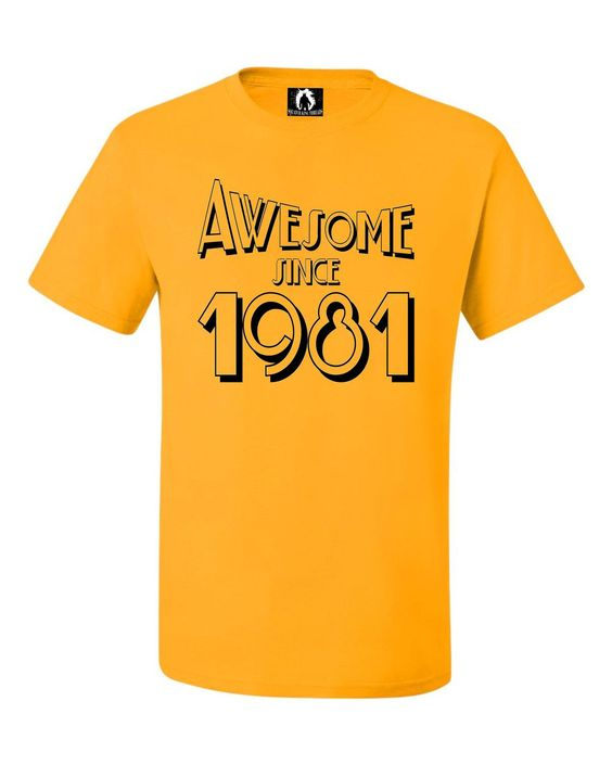Youth Awesome Since 1981 Funny Birthday T-Shirt