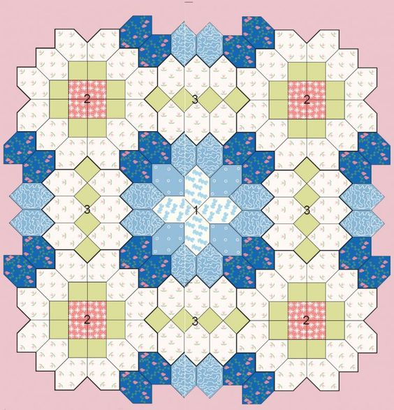 Quilt Paper Piecing Patterns For Beginners : Patchwork of the Crosses - Quilts (beginners)EPP Coffin shape idea Paper Piecing Heaven ...