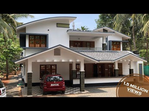 Double Story House For 45 Lakhs With Interiors Full Video Tour Youtube Double Story House Kerala House Design Story House