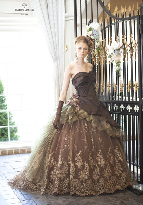 Looks like a steampunk wedding dress, especially if a few steampunk accessories were added.