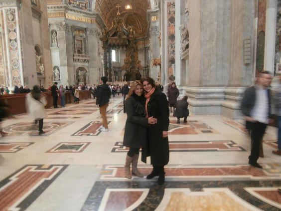 Estar dentro do Vaticano foi minha maior benção! .....junto com sua amizade. Eliane Marcia Chiarelli