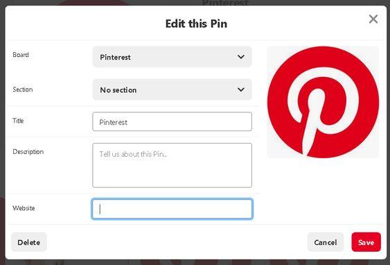Edit Pin
