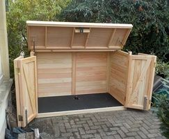 Pedalbase 3 Solid Timber Bike Shed In 2020 Bicycle Storage Shed Shed Storage Bike Shed