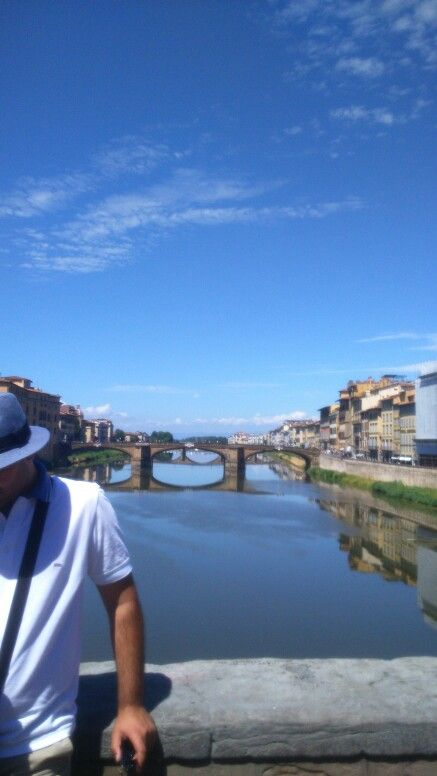 My husband, a poser B-) Ponte Vecchio, Florence