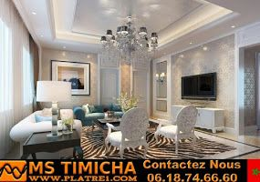 Faux Plafond Platre Marocain 2019 Platre Maroc Decoration D Interieur Et Mobilier Design Platre Marocain En 2020 Eclairage Du Salon Salon Luxueux Salon Chic