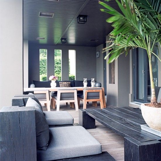 Tropical-Inspired Conservatory Veranda   Gardens, Home And The Grey