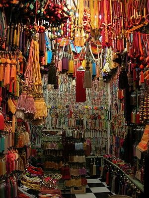 A Tassel Souk in Turkey--a whole store full of nothing but TASSELS!!! Oh, my poor credit card...