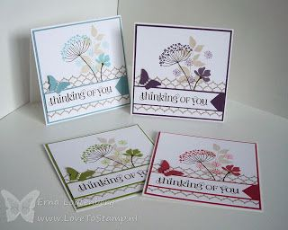 Stampin'Up! ... handmade card set by Erna Logtenberg (Love To Stamp )... Summer Silhouettes ...