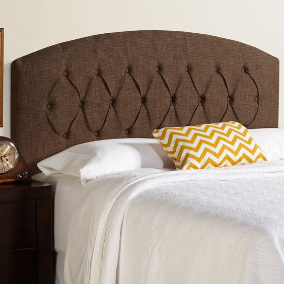 Kara Curved Upholstered Headboard