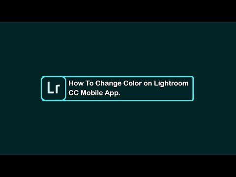 Change color in lightroom