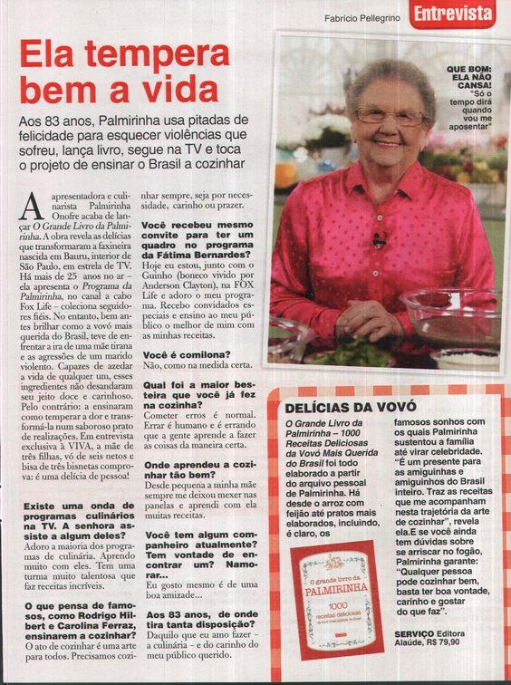 Título: Ela tempera a vida. Veículo: revista Viva Mais. Data: 29/08/2014. Cliente: Editora Alaúde.