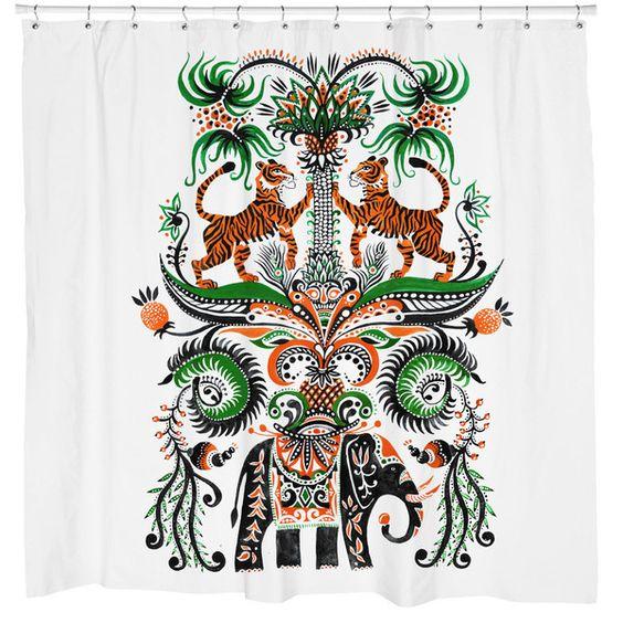 Sharp Shirter Tiger Tiger Shower Curtain