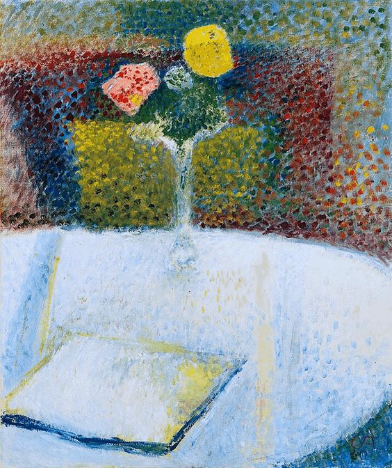 Stilleben mit buch 1960. Cuno Amiet (1868-1961)
