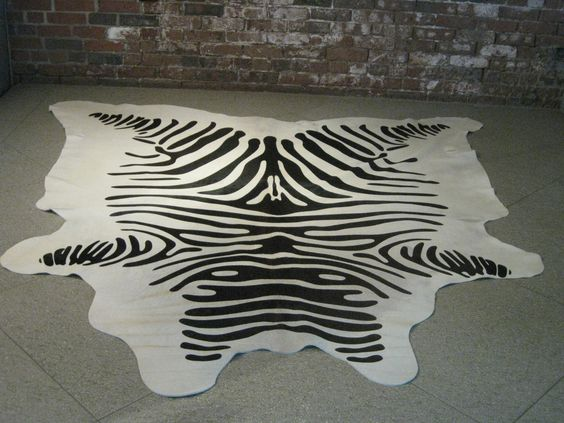 Zebra printed cowhide from Brazil, the finest!  Get it here:  http://www.disenobos.com/products/brazilian-cowhide-zebra-pattern