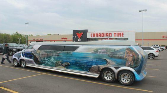 """Cosmic Cruiser"" customized van"