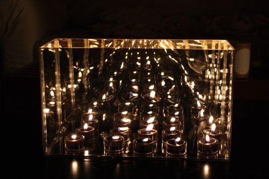 Infinite Candles. Mirrored Box.