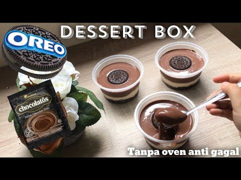 Resep Oreo Chocolatos Dessert Box Tanpa Oven Anti Gagal Coklat Nya Meleleh Dan Super Creamy Youtube Dessert Boxes Desserts Oreo