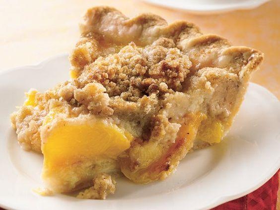 Peach crumble pie, Peach crumble and Peaches on Pinterest
